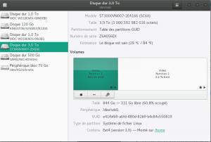 Utilitaire Gnome-disk
